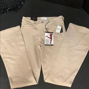 New with tag on junior size one stretch khakis